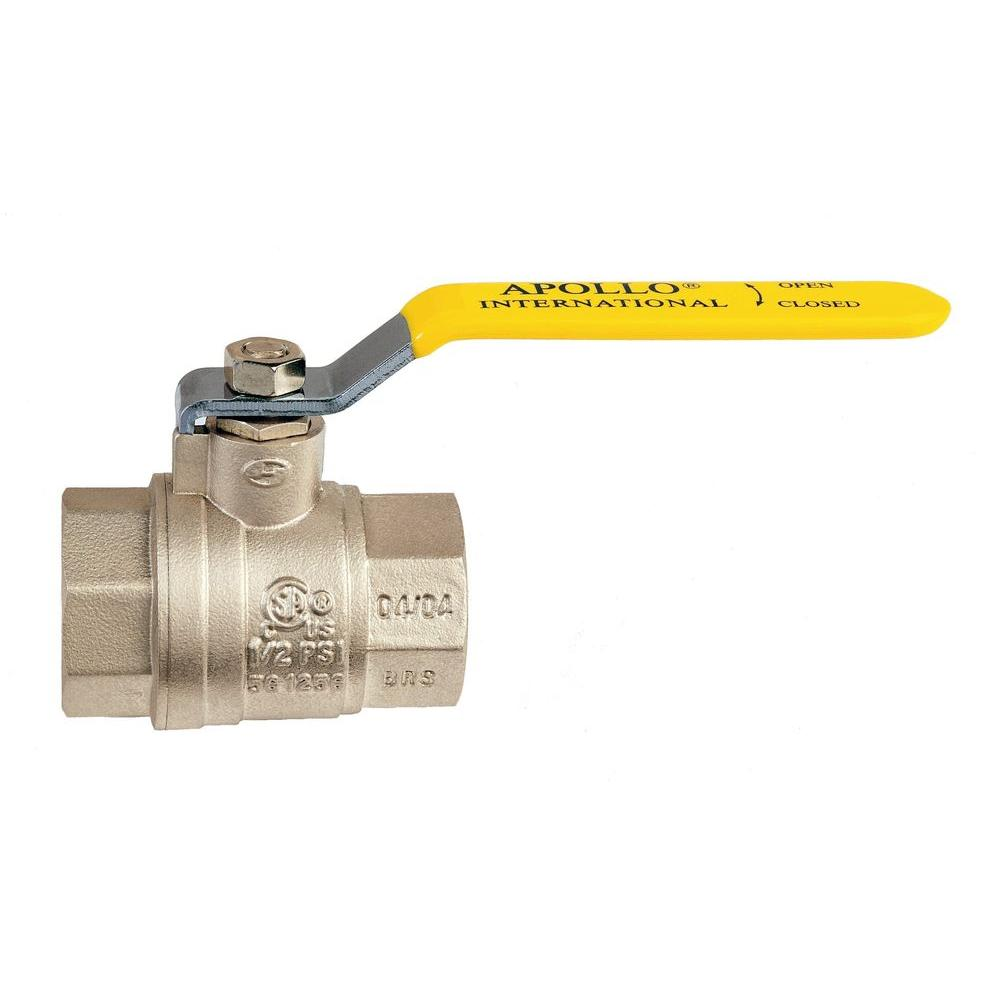 1-1/2 in. Brass Ball Valve NPT Full-Port