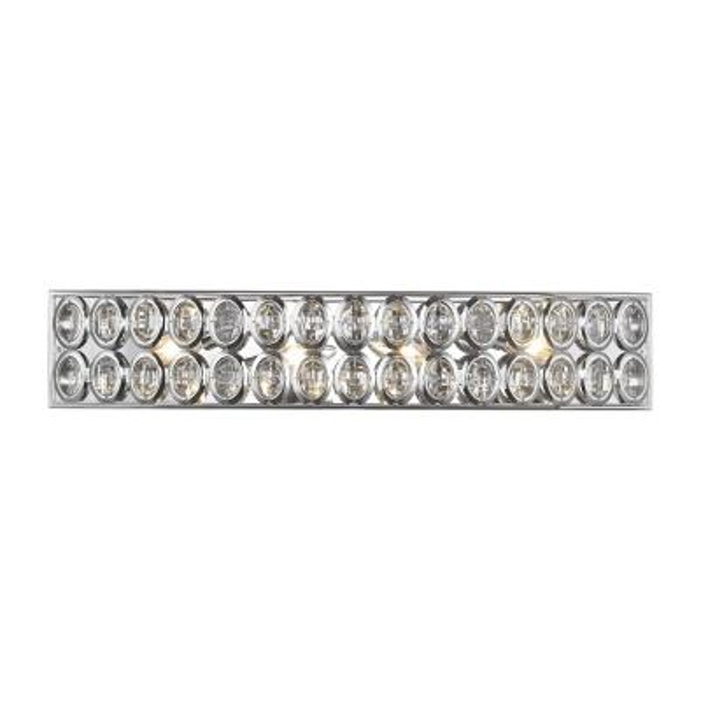 Tessa 4-Light Polished Chrome with Clear Crystal Bath Light