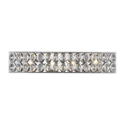 Tessa 4-Light Polished Chrome with Clear Crystal Bath Light