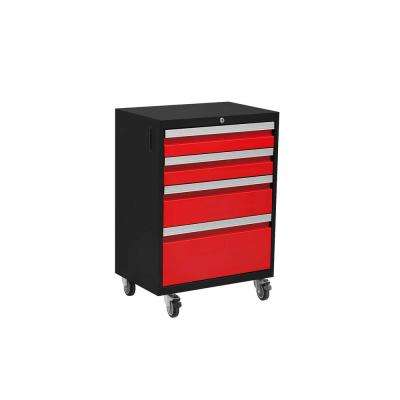 Bold 3.0 Series 33 in. H x 20.75 in. W x 16 in. D 24-Gauge Welded Steel Mobile Tool Drawer Cabinet in Red
