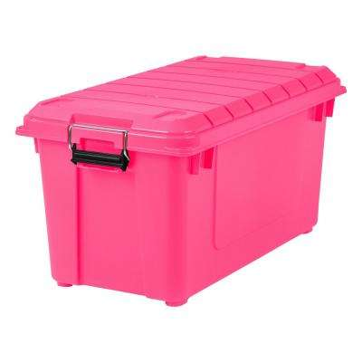 Great 82 Qt. Weathertight Store It All Storage Bin In Pink