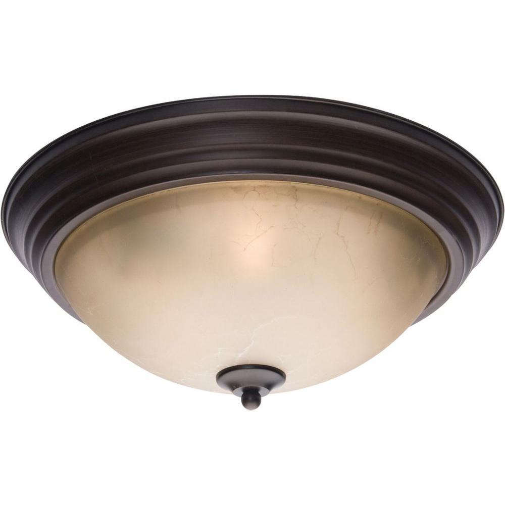 aa3cdf74309 Maxim Lighting Essentials - 5855-Flush Mount-5856LTOI - The Home Depot