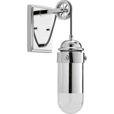 Beaker Collection 9-Watt Polished Chrome Integrated LED Wall Sconce