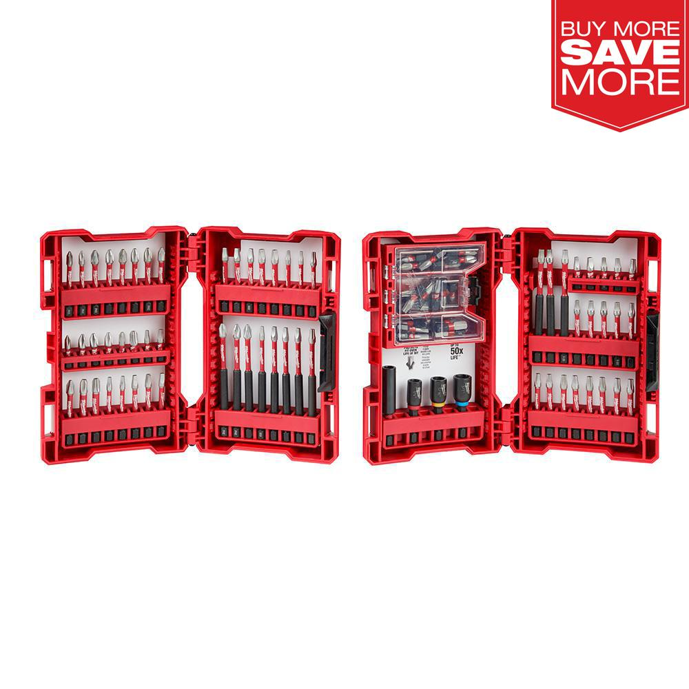 Milwaukee SHOCKWAVE Impact-Duty Alloy Steel Drill and Driver Bit Set (100-Piece) was $69.0 now $34.97 (49.0% off)
