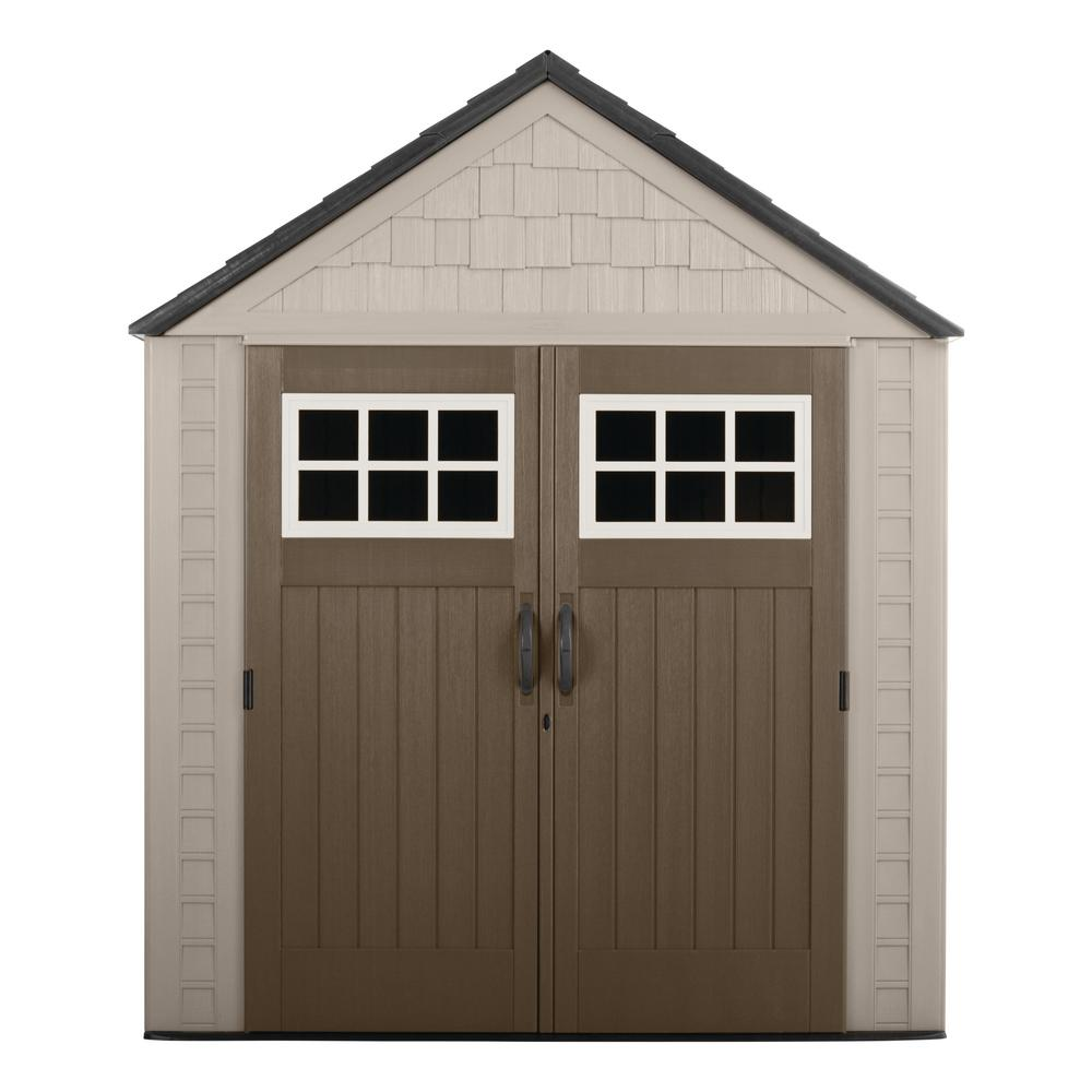 Rubbermaid Big Max 7 ft. 1 in. x 7 ft. 2 in. Resin Storage Shed