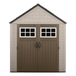 Rubbermaid Big Max 7 ft. 1 inch x 7 ft. 2 inch Resin Storage Shed by Rubbermaid