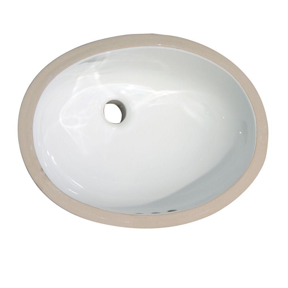 Elizabethan Classics English Turn Under-Mounted Bathroom Sink in White