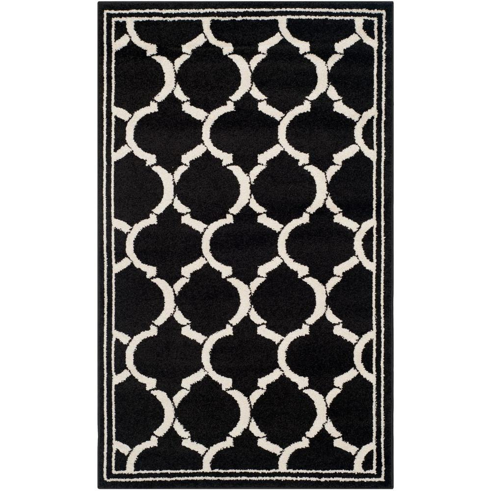 Amherst Anthracite/Ivory 3 ft. x 5 ft. Indoor/Outdoor Area Rug