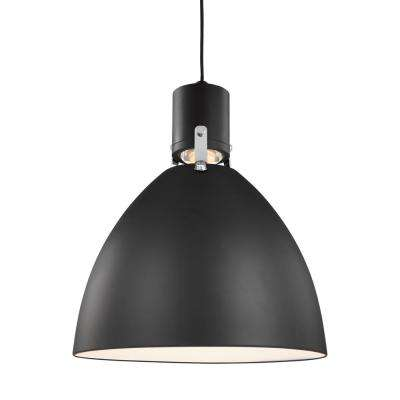 Brynne 14-Watt Matte Black Integrated LED Pendant