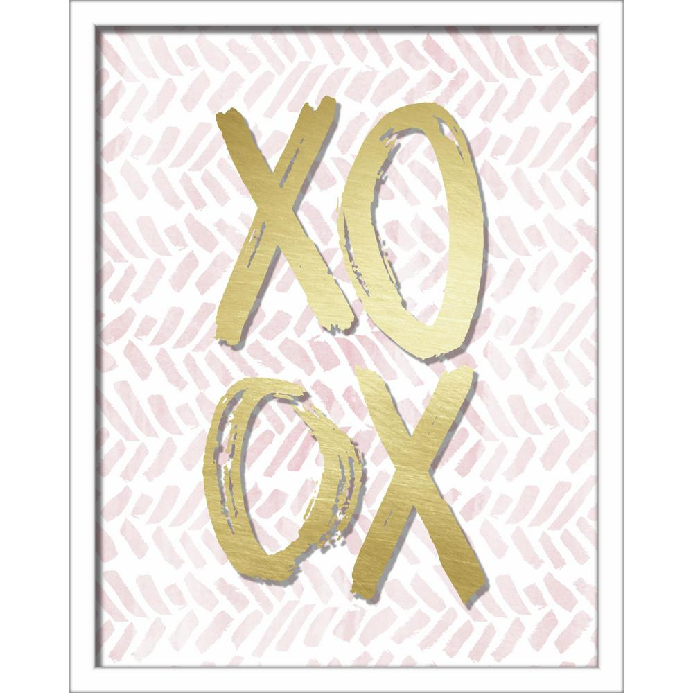 """Linden Ave 16 in. x 20 in. """"XOXO Brush Strokes"""" Shadowbox Wall Art ..."""