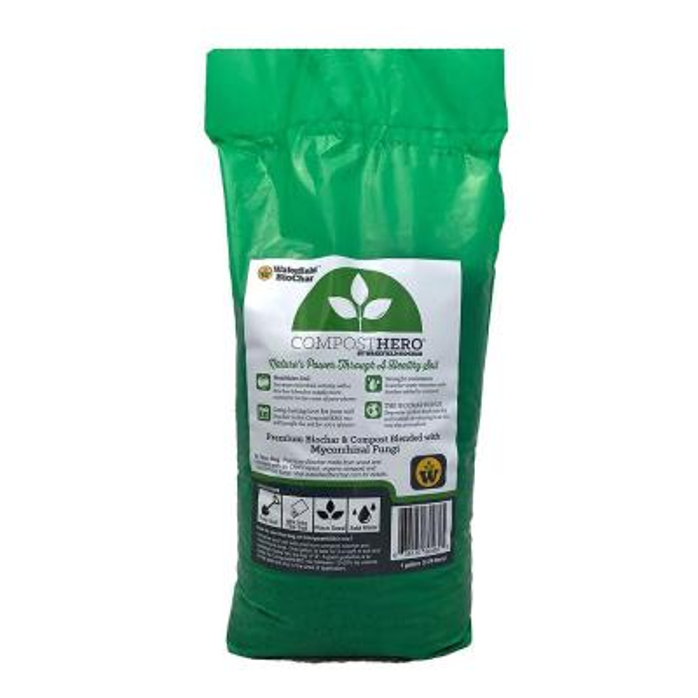 HERO Blend 1 Gal Biochar Organic Garden Compost with Mycorrhizal Fungi