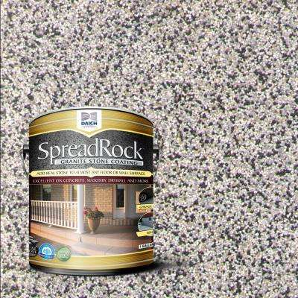 Granite Stone Coating 1 gal. Flint Gray Satin Interior/Exterior Concrete Resurfacer and Sealer