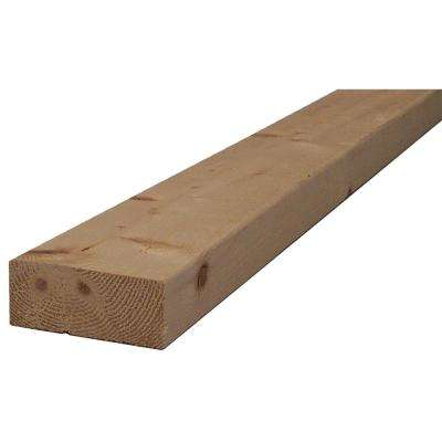 2 in. x 4 in. x 12 ft. #2 and BTR. S-Dry Spruce Pine Fir Lumber