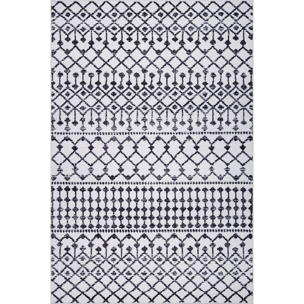Fez Geometric Lattice Ivory 8 ft. x 10 ft. Area Rug