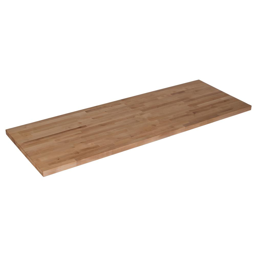 50 in x 25 in x 1 5 in wood butcher block countertop in for Installing butcher block countertops