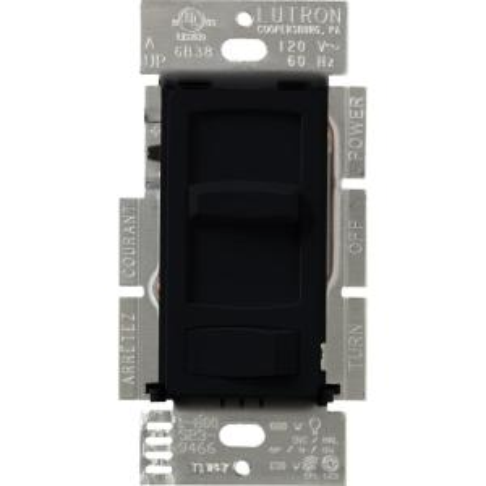black lutron dimmers ctcl 153p bl 64_300 lutron skylark contour 150 watt single pole 3 way preset cfl led  at bayanpartner.co