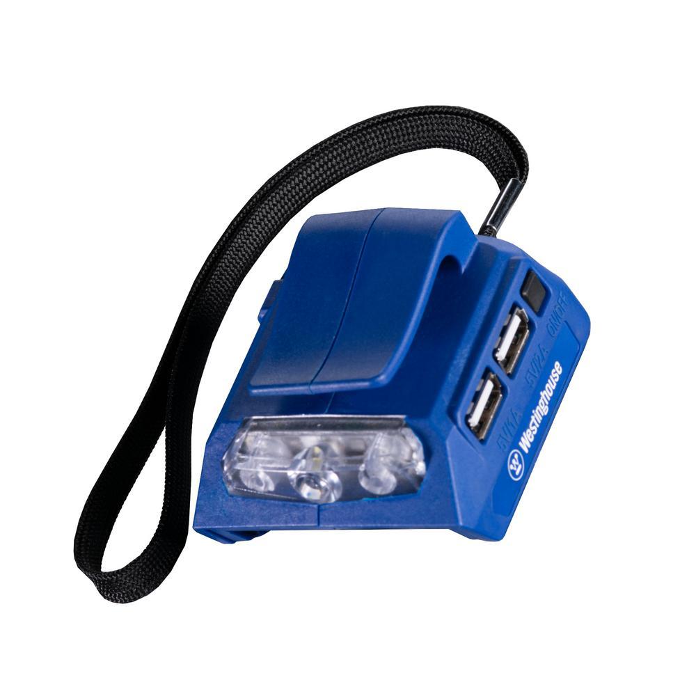 Westinghouse 20-Volt USB Power Adaptor with LED Flashlight