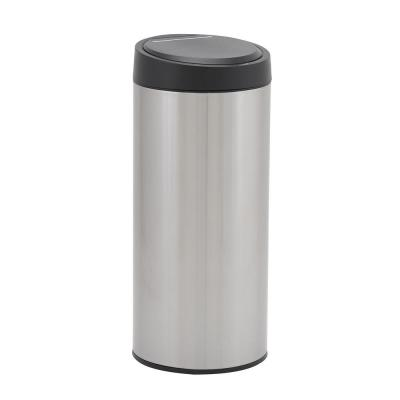 30 l/8 Gal. Round Trash Can Hands Free Stainless Steel with Motion Sensor