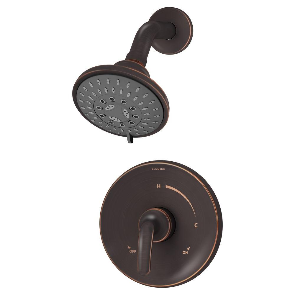 Symmons Elm 1-Handle 3-Spray Shower Faucet System in Seasoned Bronze (Valve Included)