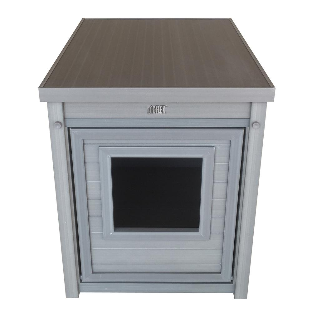New Age Pet ECOFLEX® Litter Box Cover End Table in Grey