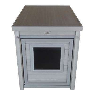 ECOFLEX Litter Box Cover/End Table in Grey