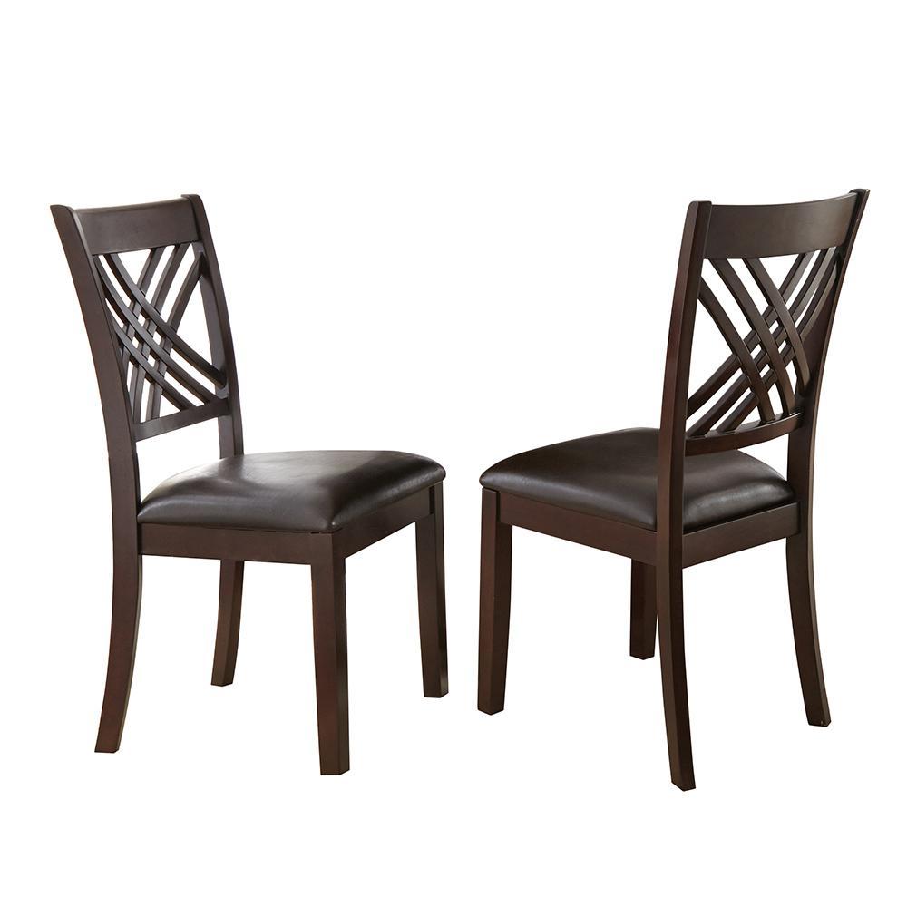 Superb Steve Silver Company Adrian Espresso Side Chairs Set Of 2 Machost Co Dining Chair Design Ideas Machostcouk