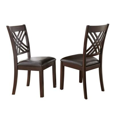 Adrian Espresso Side Chairs (Set of 2)
