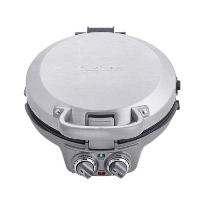 International Chef Single Waffle Silver Crepe Maker and Pizelle Maker