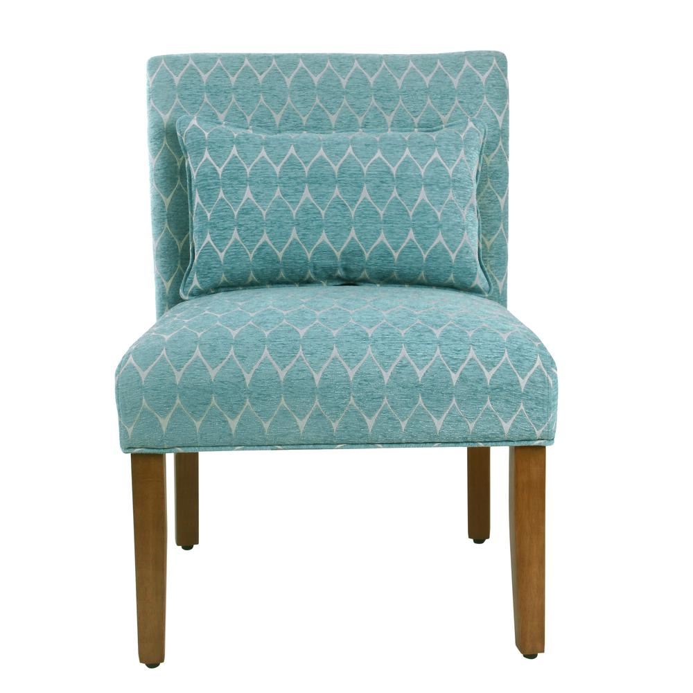 Homepop Modern Geo Textured Teal Parker Accent Chair With