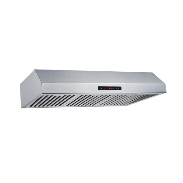 Winflo 30 In Convertible 500 Cfm Under Cabinet Range Hood In Stainless Steel With Baffle Filters And Touch Control Ur011b30s The Home Depot