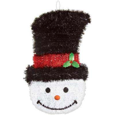 21 in. x 12 in. x 2 in. Deluxe Snowman Tinsel Decoration (2-Pack)