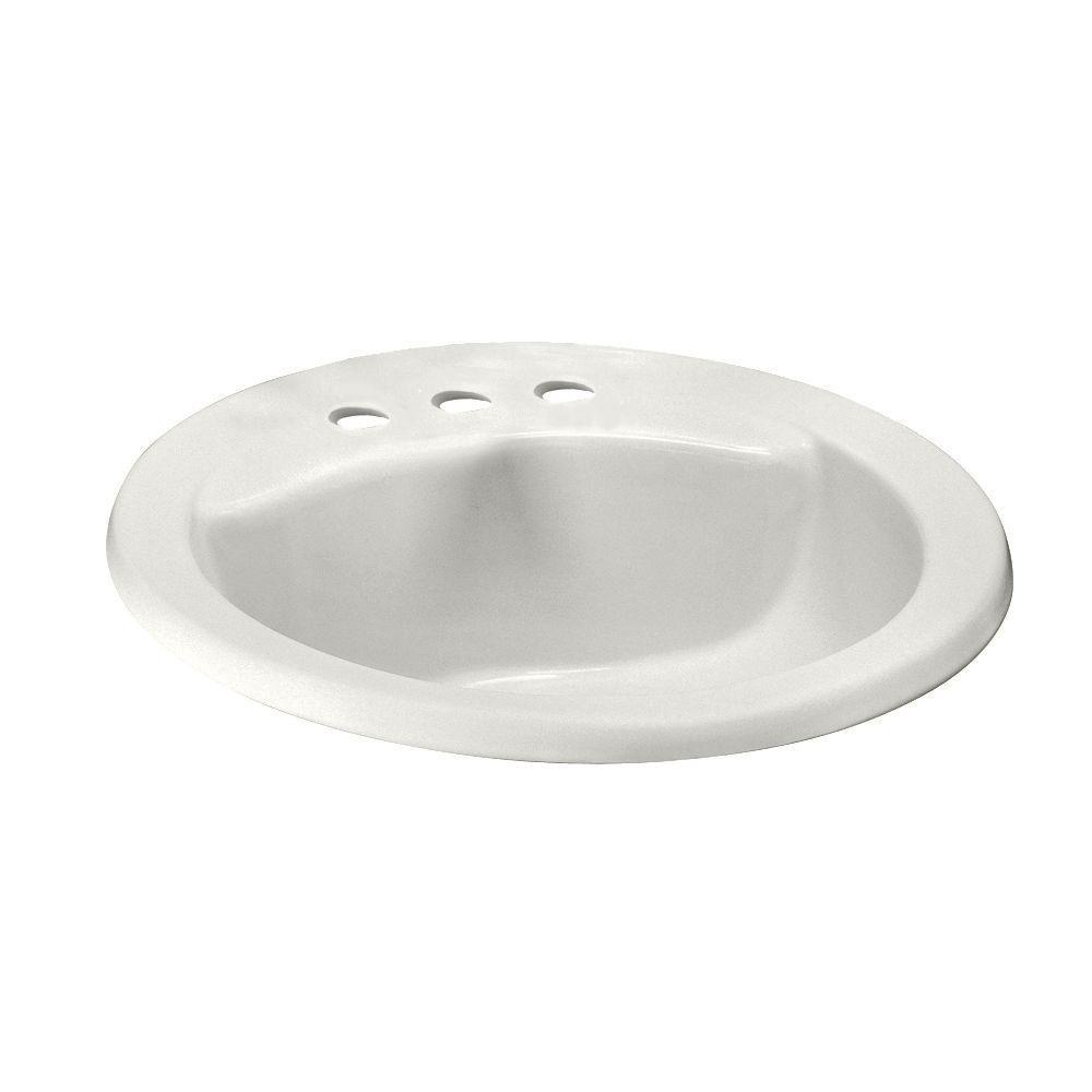 American Standard Cadet Drop In Bathroom Sink In White