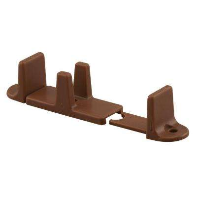 1 in. H Bi-Pass Dark Brown Door Guide