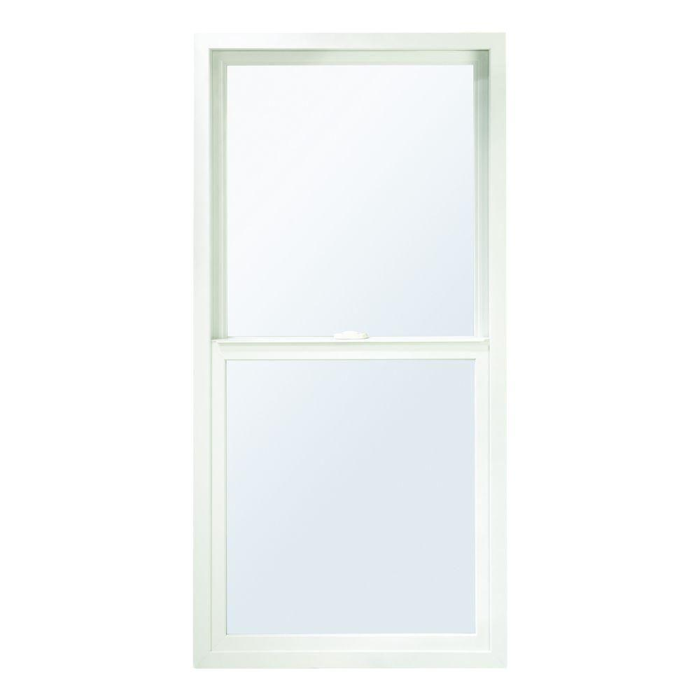 23.75 In. X 37.5 In. 100 Series Wood Composite Single Hung Window White