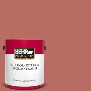 Behr Premium Plus 1 Gal Mq4 34 Hacienda Tile Hi Gloss Enamel Interior Exterior Paint 830001 The Home Depot