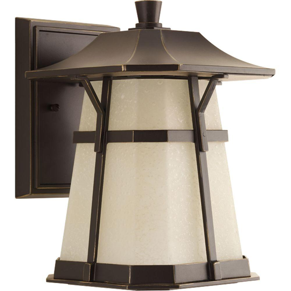 Derby Collection 1-Light Outdoor Antique Bronze LED Wall Lantern