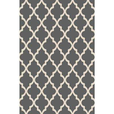 Ephes Collection Grey 1 ft. 10 in. x 6 ft. 10 in. Area Rug