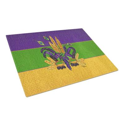 Mardi Gras Feather Mask Tempered Glass Cutting Board