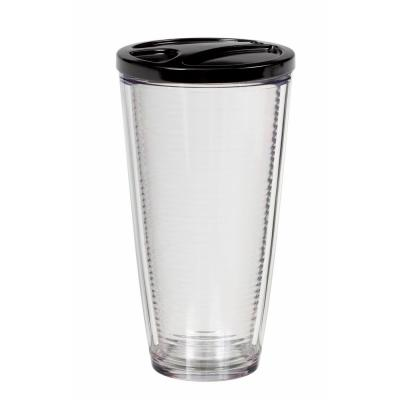 Insulated Clear Acrylic 22 oz. Tumbler Set with Matching Lids (Pack of 6)
