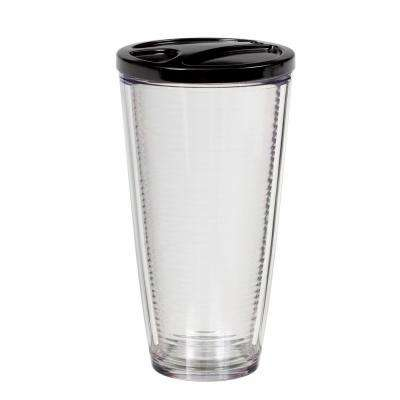 Insulated 6-pk. Clear Acrylic 22 oz. Tumbler Set w/ Matching Lids