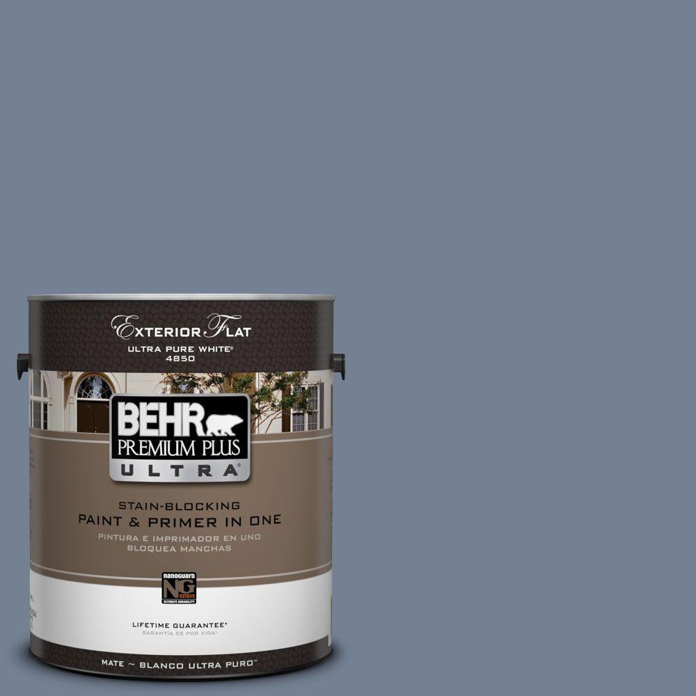 BEHR Premium Plus Ultra 1-Gal. #UL240-5 Tranquil Pond Flat Exterior Paint