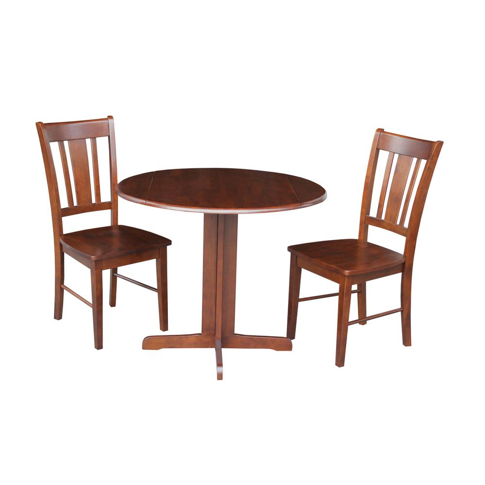 International Concepts 3 Piece Cinnamon And Espresso Dining Set K581