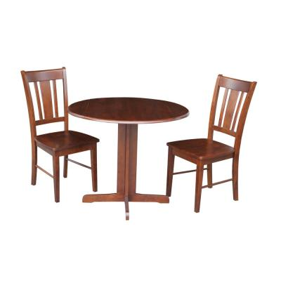 3-Piece Cinnamon and Espresso Dining Set