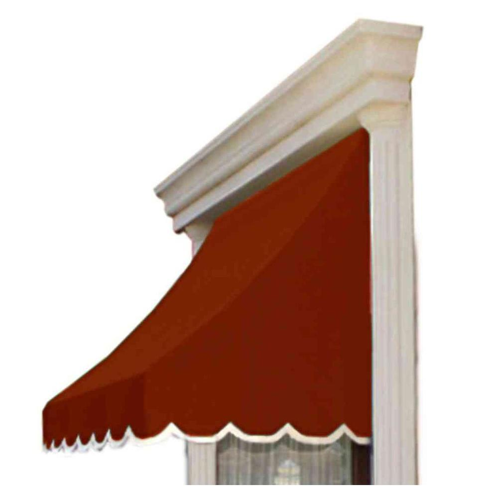 AWNTECH 3 ft. Nantucket Window/Entry Awning (44 in. H x 36 in. D) in Terra Cotta