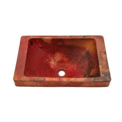 Santa Cruz Copper Bathroom Sink in Natural
