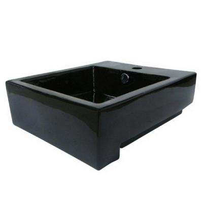 4-1/4 in. Console Sink Basin in Black
