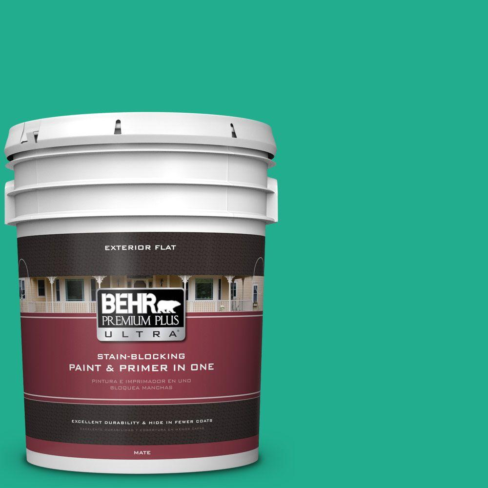 5-gal. #480B-5 Mermaid Song Flat Exterior Paint
