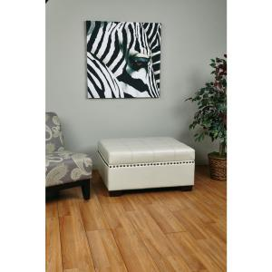 Ave Six Detour Cream Storage Ottoman by Ave Six