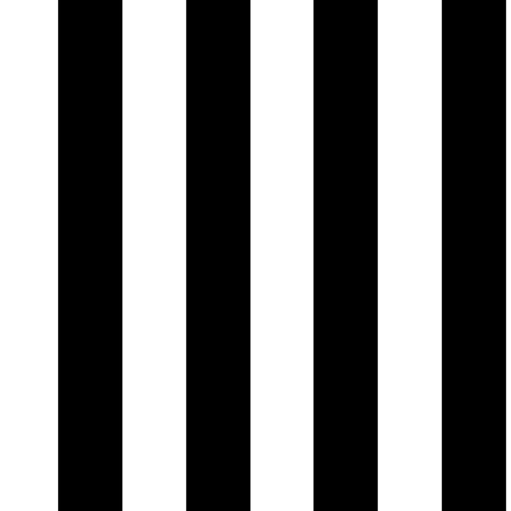 Graham & Brown Black and White Monochrome Stripe Removable Wallpaper-100099 - The Home Depot