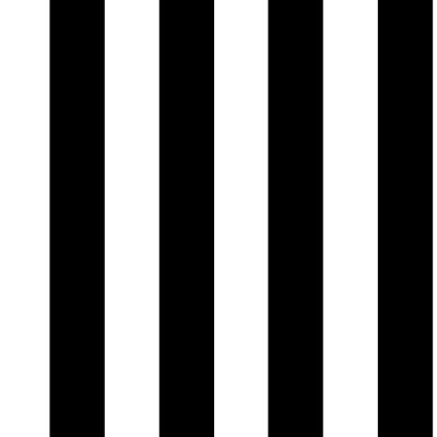 Black and White Monochrome Stripe Removable Wallpaper